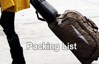 Packing List & Luggage