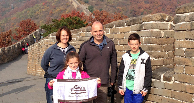 Melvyn family toured to Beijing from UK