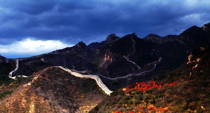 Celebrating Mid-autumn Festival and National Holiday: Badaling Great Wall