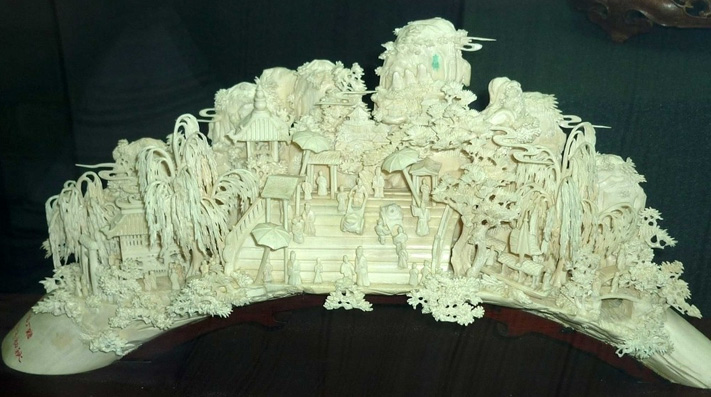 intangible cultural heritages  ivory carving