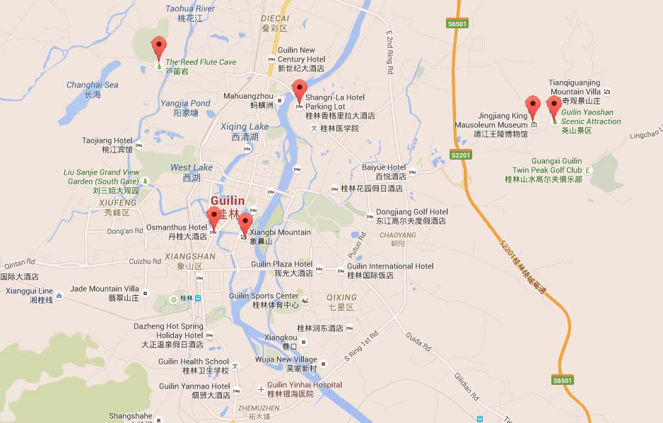 Map of Guilin City